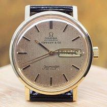 OmegaSeamaster Deville 14kt Gold Vintage Tiffany & Co Dial...