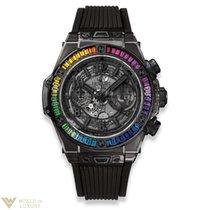 Hublot Big Bang 45mm Unico All Black Sapphire Rainbow Men's Watch
