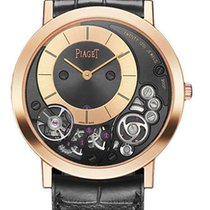 Piaget Red gold Manual winding Black 38mm new Altiplano