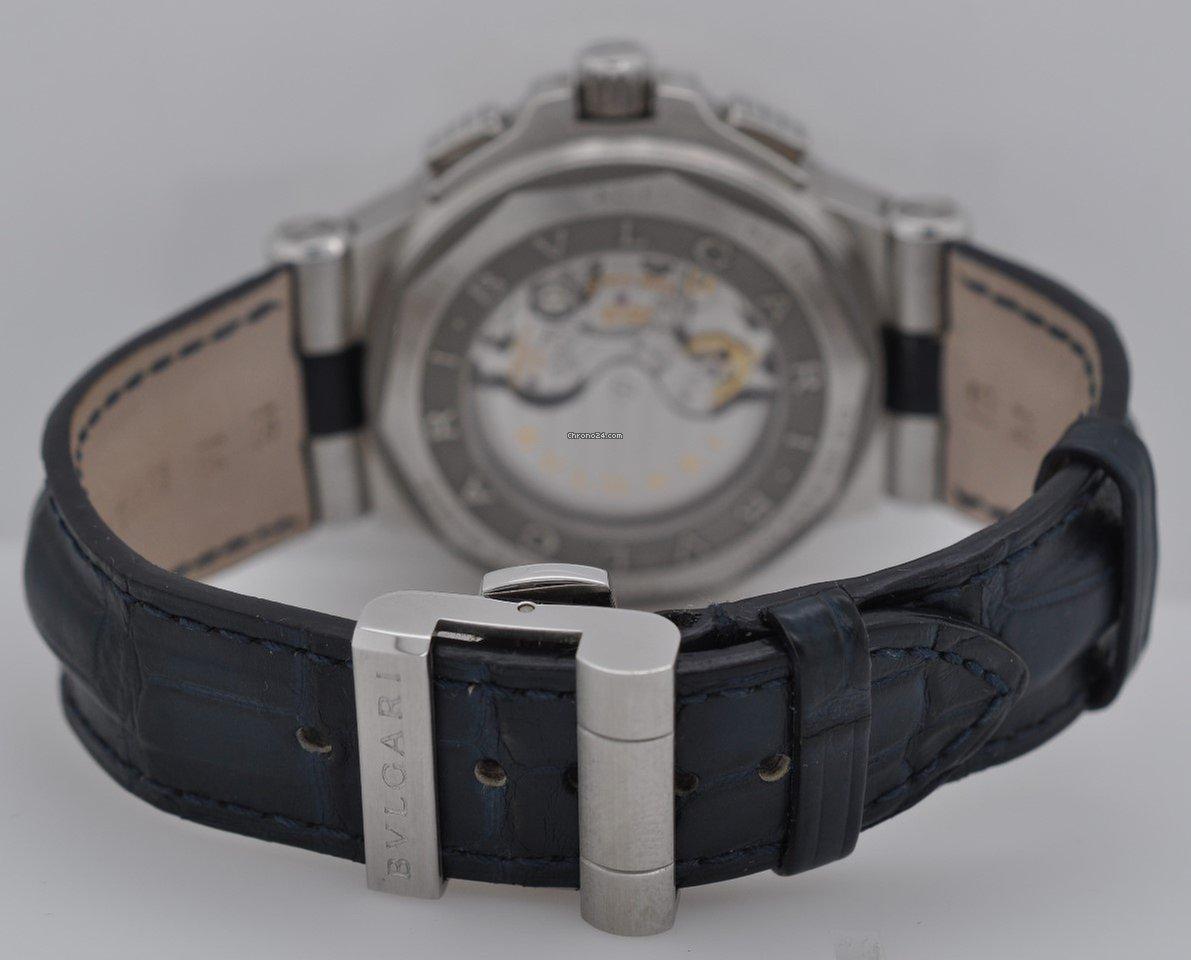 e7cfd811244 Bulgari Diagono Calibro 303 Blue Chronograph 42mm 18k Gold  ... for ...