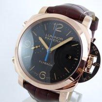huge discount 5e873 14181 パネライ ルミノール 1950 3デイズ クロノ フライバック ピンク ...