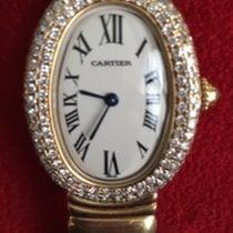 Cartier Baignoire gebraucht 31mm Gelbgold