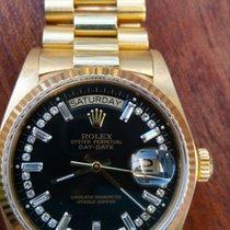 Rolex Day-Date 36 Žluté zlato 38,5mm Černá Bez čísel