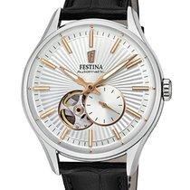 Festina new Automatic Display Back 42mm Steel Mineral Glass