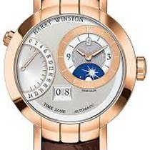 Harry Winston Rose gold Manual winding Silver 41mm new Premier