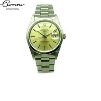 Rolex Oyster Perpetual Date Steel 34mm Yellow No numerals