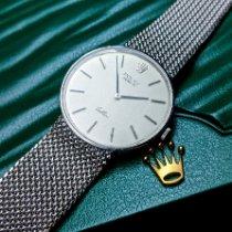 Rolex Cellini White gold 31mm Silver No numerals