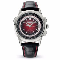 Patek Philippe World Time Chronograph White gold 39.5mm Red No numerals United States of America, New York, New York