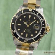 Rolex Submariner Date Zlato/Ocel 40mm Černá