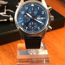 IWC Pilot Chronograph Acier 42mm Bleu France, Paris