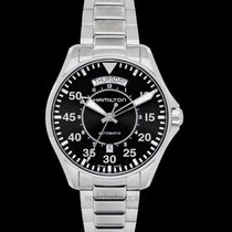 Hamilton Khaki Aviation Pilot Day Date Auto Black Steel 42mm -...