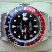 Rolex [RECTANGULAR+NO HOLE+B+P+NEAR-NOS] GMT Master II PEPSI...