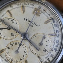 Lemania 32mm Handopwind 1960 tweedehands Champagne