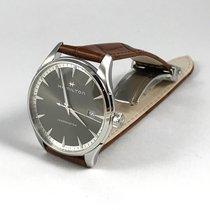 Hamilton JAZZMASTER GENT QUARTZ Black Dial Brown Leather 40mm