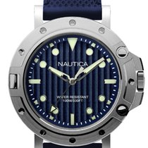 Nautica Quartz Watch Diver Style with Blue Silicone Strap
