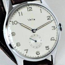 Wyler Vetta 37,5mm Handaufzug 1940 gebraucht Silber