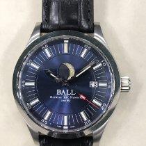 Ball nuevo Automático Agujas luminosas Corona atornillada Índices luminosos 41mm Acero Cristal de zafiro