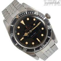 Rolex Submariner (No Date) pre-owned escluso corona 37mm Black Steel