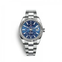 Rolex Sky-Dweller Or/Acier 42mm Bleu