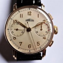 Angelus Geelgoud 36mm Handopwind Fancy lugs tweedehands Nederland, Bussum