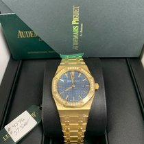 Audemars Piguet Royal Oak Lady Yellow gold 33mm Blue No numerals United States of America, Florida, MIAMI