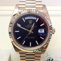 Rolex Day-Date 40 Żółte złoto 40mm Czarny