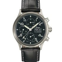 Sinn 358 Steel 42mm Black Arabic numerals