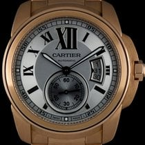 Cartier 18k Rose Gold Silver Roman Dial Calibre De Cartier...