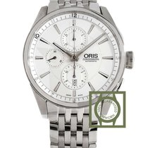 Oris Artix Chronograph Steel 44mm White Arabic numerals