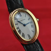 Cartier Baignoire Or jaune 22mm Blanc Romain