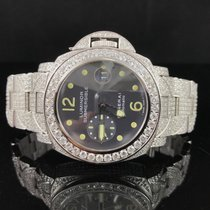 Panerai Laminar Submersible Iced Out 15ct Diamonds