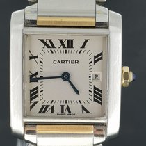 Cartier Tank Française 25MM mid size Gold&Steel Box&Papers...