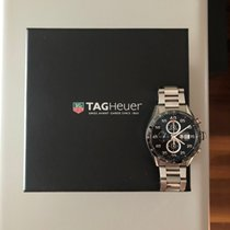 TAG Heuer Chronograph 43mm Automatic 2014 pre-owned Carrera Calibre 1887 Black