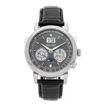 A. Lange & Söhne White gold Manual winding Grey No numerals 41mm pre-owned Datograph