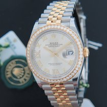 Rolex Datejust NEW 126283RBR Gold/Steel Silver Diamond Dial NEW