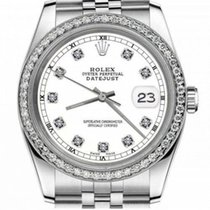 Rolex Lady-Datejust Aço 31mm Branco Sem números
