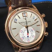 Patek Philippe Annual Calendar Chronograph Or rose 40.5mm Gris Sans chiffres France, Paris