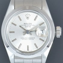 Rolex 26mm Automatic 1996 pre-owned Oyster Perpetual Lady Date Silver