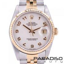 Rolex 16233 Goud/Staal 1997 Datejust tweedehands