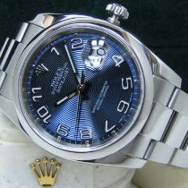 Rolex Datejust pre-owned 36mm Blue Date Perpetual calendar Steel