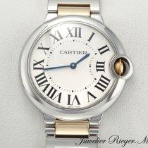 Cartier Ballon Bleu 36mm Zlato/Zeljezo 36mm Srebro Rimski brojevi