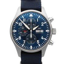IWC Fliegeruhr Chronograph Stahl 43mm Blau Deutschland, Bamberg