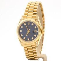 Rolex Datejust Or jaune 26mm Bleu Sans chiffres France, Paris