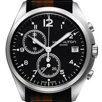 Hamilton Khaki Pilot Pioneer new Quartz Chronograph Watch with original box H76552933