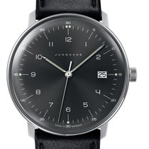 Junghans max bill Quartz Steel 38mm Black Arabic numerals