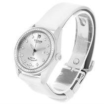 Tudor Glamour White Diamond Dial Ladies Watch 53020 Box Papers