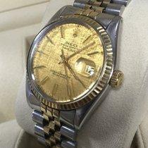 Rolex Oyster Datejust Jubilee Gold Steel Linen Dial 36 mm