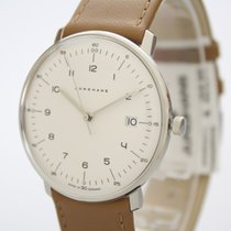 Junghans max bill Quarz Stal 38mm Srebrny Arabskie
