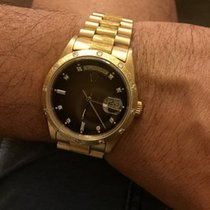 Rolex 18248 Day-Date Presidential Bark Finish Double Quickset