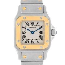 Cartier Santos Galbee Ladies Steel 18k Yellow Gold Watch W20012c4